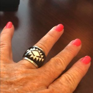 Southwest Style Sterling Silver Ring Size 7